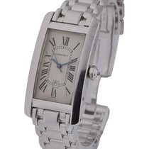 Cartier W26036L1 Tank Americaine Mid Size on Bracelet - White...