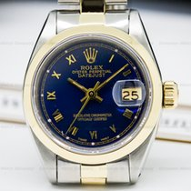 Rolex 6917 Lady Oyster Perpetual Date Blue Dial SS / 18K (24559)