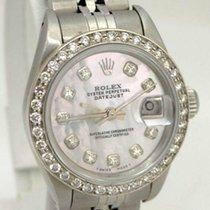 Rolex Ladies Rolex Stainless Steel Datejust Mop Dial Diamond...