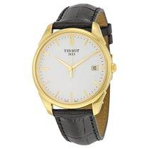 Tissot Vintage White Dial Black Leather Mens Watch T920.410.16...