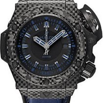 Hublot King Power Oceanographic Blue Rubber Mens Watch...