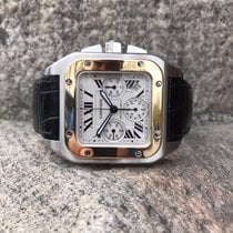 Cartier Santos 100XL Chronograph Gold and Steel