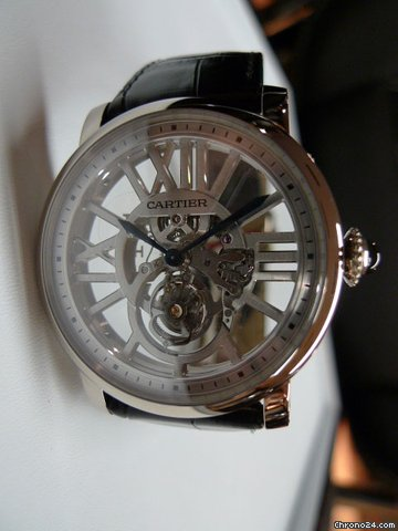 Cartier ROTONDE FLYING TOURBILLON SKELETON W1580031