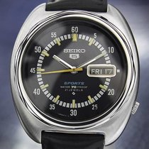 Seiko 5 Sports Large Mens 70 21 Jewels Automatic Stainless...