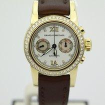 Girard Perregaux 18k Yellow Gold Ladies Diamond Bezel Chronograph