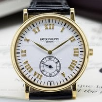 Patek Philippe 5022J Calatrava White Dial 18K Yellow Gold...