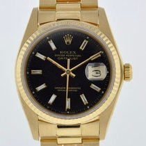Rolex OYSTER PERPETUAL DATEJUST BLACK DIAMOND DIAL 2 YR...