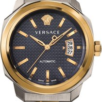 Versace Men's Dylos Automatic Watch  Blue Dial Two Tone...