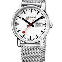 Mondaine Evo Ladies Big Date Watch - White Dial - Steel Case...