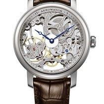 Aerowatch Renaissance Big Skeleton Hand Wound Leather Watch
