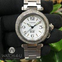 Cartier Pasha 2475 W31044M7 1.8ct Diamond Bezel Steel Women&#3...