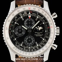 Breitling Steel Black Dial Navitimer 1461 Gents B&P A1937012