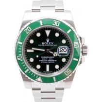 Rolex Submariner Hulk 116610LV Anniversary 40mm Green Ceramic...