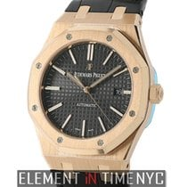 Audemars Piguet Royal Oak 41mm 18k Rose Gold Black Dial...
