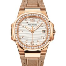 Patek Philippe 7010R-011 Nautilus Ladies 32mm Silver Arabic...