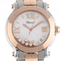 Chopard Happy Sport Stahl Roségold Diamond Automatik Armband...