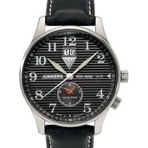 Junkers Iron Annie Ju52 Quartz Watch Big Date Dual Time 40mm...
