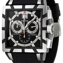 Edox Classe Royale Black Dial Rubber Men's Watch 10013-357...