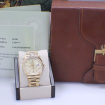Rolex President 18348 Diamond Dial Yellow Gold