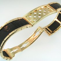 Wempe Le Bracelet 750 18k Mit Schwarzem Crocoleder Np 13.000 Euro
