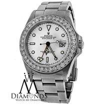 Rolex Original Diamond Rolex Ss Stainless Steel Explorer Ii...