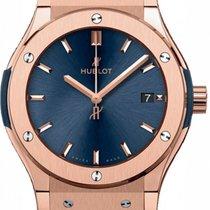 Hublot Classic Fusion 581.OX.7180.LR Blue Index Rose Gold...