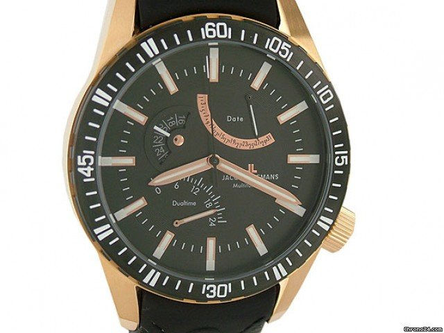 Jacques Lemans Multifunction Dualtime Date Rosgold 50 mm