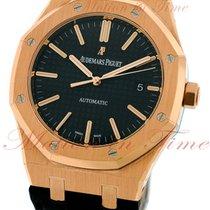 Audemars Piguet Royal Oak Automatic, Black Dial - Rose Gold on...