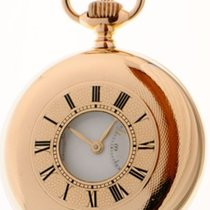 IWC Schaffhausen 14K rose gold half hunter case pocket watch