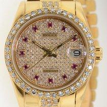 Rolex Datejust 18k Yellow Gold 68278 Aftermarket Diamond Dial...