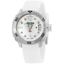 Alpina White Dial White Silicone Strap Ladies Watch Al240lsd3v6