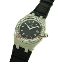 Audemars Piguet Royal Oak Ladies, Diamond Bezel, Black Dial -...