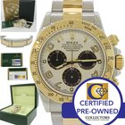 Rolex Daytona Panda 116523 18k Gold Steel Two Tone Watch Box...