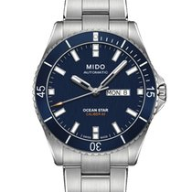 Mido Ocean Star Captain V Blue / Silver Stainless Steel Automatic
