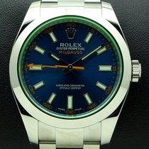 Rolex Milgauss, Blue Dial ref. 116400GV, full set