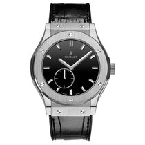 Hublot Classic Fusion 42mm Hand Wind Titanium Mens Watch Ref...