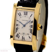 Cartier Tank Americaine Ref-W2600851 18k Yellow Gold Papers...