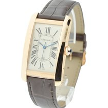 Cartier W2609156 Tank Americaine - Large Size - Rose Gold on...