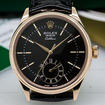 Rolex 50525 Cellini Dual Time 18K Rose Gold (25476)