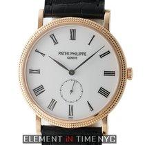 Patek Philippe Calatrava 18k Rose Gold 36mm White Roman Dial...