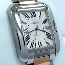 Cartier Tank Anglaise Xl Size 18k Rose Gold & Ss 3507...