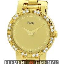 Piaget Dancer Ladies 18k Yellow Gold Diamond Bezel Ref.