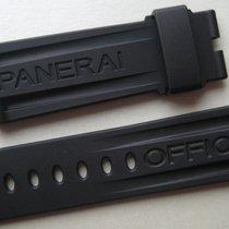 Panerai GENUINE OFFICINE PANERAI WATCH 24 mm STRAP BAND BLACK...