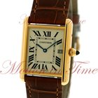 Cartier Tank Louis Cartier Large, Silver Dial - Yellow Gold on...