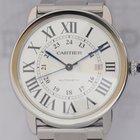 Cartier Ronde Solo XL Stahl Automatik white roman Date...