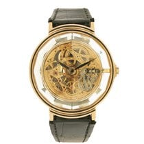 "Corum 18k Yellow Gold and Crystal ""Skeletonized"" No. 40"