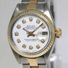 Rolex Datejust 18k Yellow Gold/Steel White Diamond Dial Ladies...