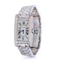 Cartier Tank Americaine 18K White Gold Quartz Watch W26019L1