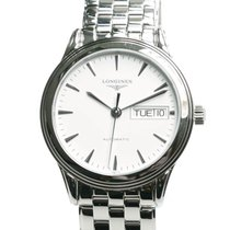 Longines Flagship Stainless Steel White Automatic L4.799.4.12.6