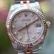 Rolex Datejust Midsize 31mm 18k Rose Gold Steel Diamond...
